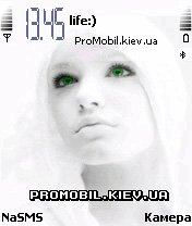 Тема White angel для смартфона Nokia