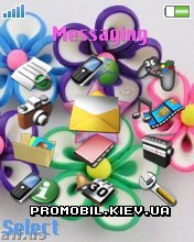 Тема для Sony Ericsson 176x220 - Colors Flowers