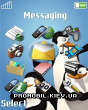 Тема для Sony Ericsson 176x220 - Penguins
