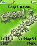 Тема для Sony Ericsson 128x160 - Greem Equals