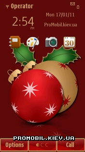 Тема для Symbian^3 - Xmas Decor