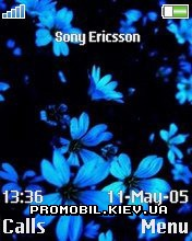 Тема для Sony Ericsson 176x220 - Dark flower