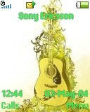 Тема для Sony Ericsson 128x160 - Yellow Guitar