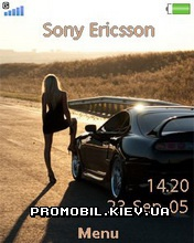 Тема для Sony Ericsson 240x320 - Supra And Girl