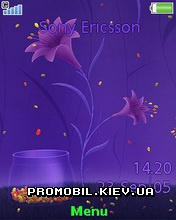 Тема для Sony Ericsson 240x320 - Design Of Purple