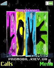 Тема для Sony Ericsson 176x220 - Colors Love