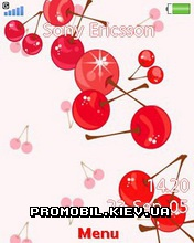 Тема для Sony Ericsson 240x320 - Love Cherry