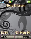 Тема для Sony Ericsson 128x160 - Abstract black