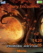 Тема для Sony Ericsson 240x320 - Autumn Tree