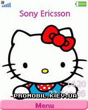 Тема для Sony Ericsson 240x320 - Hello Kitty white