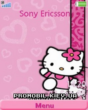 Тема для Sony Ericsson 240x320 - Kitty