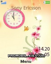Тема для Sony Ericsson 240x320 - Flower Clock