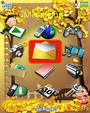 Тема для Sony Ericsson 240x320 - Sunflower Kids