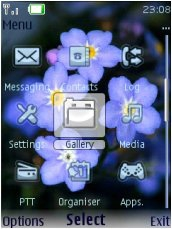 Тема для Nokia Series 40 - Flowers