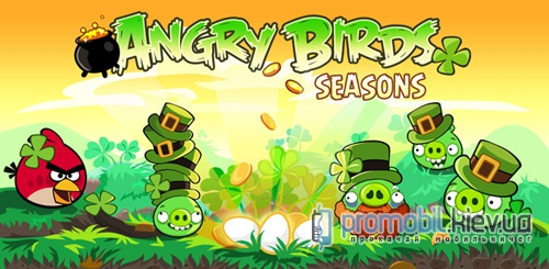 Angry Birds Happy St. Patrick's Day для Symbian 3