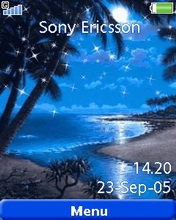 Тема для Sony Ericsson 240x320 - Tropical Blue