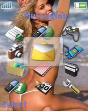 Тема для Sony Ericsson 176x220 - Girl In The Beach