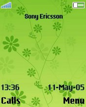 Тема для Sony Ericsson 176x220 - Green Flower