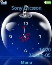 Тема для Sony Ericsson 240x320 - Apple Clock