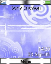 Тема для Sony Ericsson 240x320 - Blue Evolution