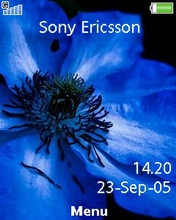 Тема для Sony Ericsson 240x320 - Blue flower