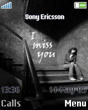Тема для Sony Ericsson 176x220 - Miss You